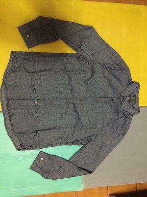 NET-SLIM FIT男 深灰色Urban style~100%棉~長袖襯衫 / XXL(190/108A) 9成新