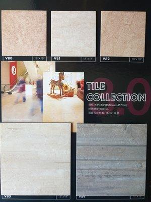 美的磚家~質感品質佳知名FLOORWORKS福樂極品石紋塑膠地磚塑膠地板~45cmx45cmx3m/m,每坪950元