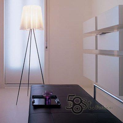 【58街】義大利設計師款式「Rosy Angelis布罩落地燈」。複刻版。GU-104