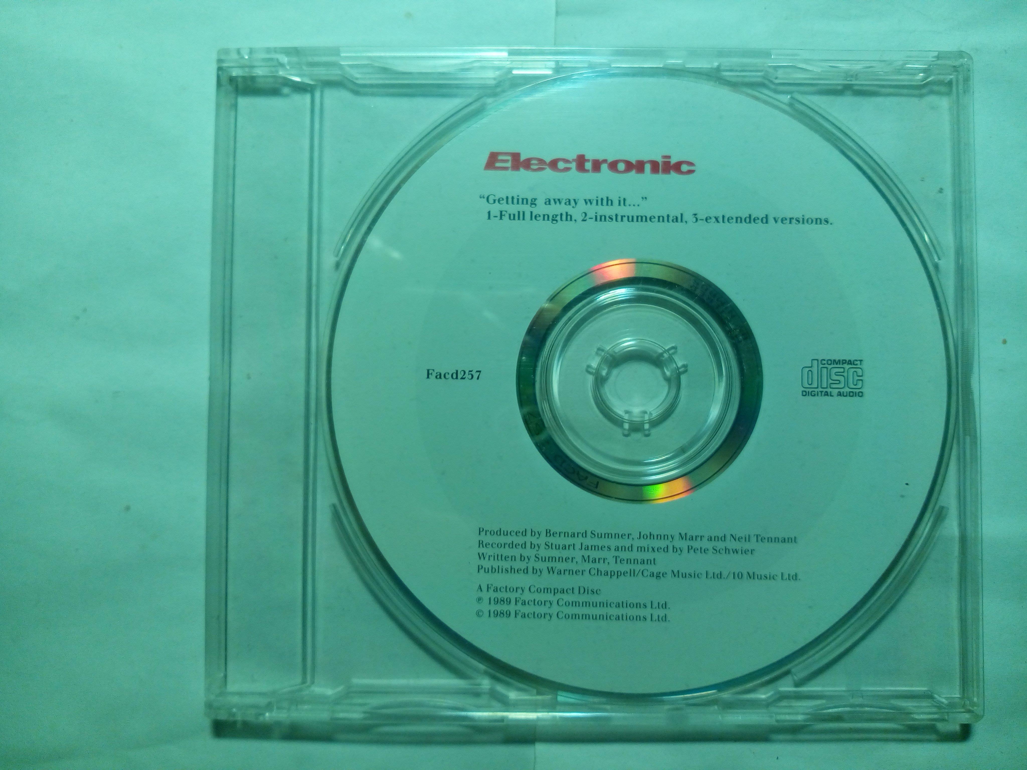 天團Electronic首張Getting Away With It單曲CD New Order+Smiths+Pet