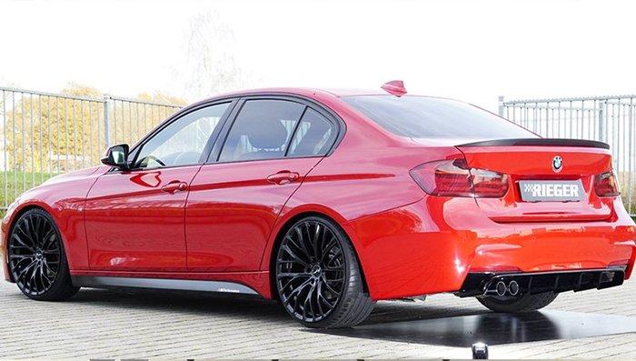 【樂駒】RIEGER BMW F30 F31 LCI rear skirt insert 後下巴 後下擾流 高亮黑 外觀