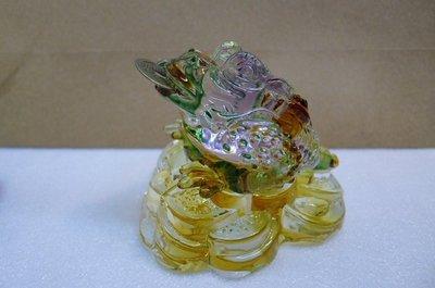 陶藝小舖......三腳蟾蜍.......招財....玻璃.....特大隻....特價中.....1180元..
