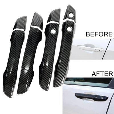 一套 汽車拉手把貼片 碳纖紋 Carbon Look ABS 防刮蓋 For 16-19 CIVIC