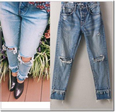 【WildLady】 日本磨破毛邊口袋設計款長褲 牛仔褲 細身褲專櫃moussy