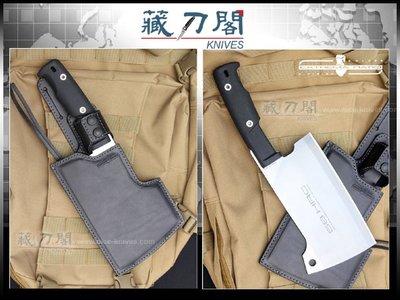 《藏刀閣》EXTREMA RATIO-(GENOVESE SATIN)吉諾維斯重型廚房剁刀(白刃)