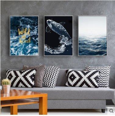 『格倫雅』如魚得水 現代簡約抽象油畫豎版玄關裝飾畫走廊過道客廳掛畫壁畫^13709