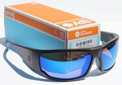 SPY OPTICS TACKle POLARIZED太陽眼鏡啞光黑/ Happy Bronze Blue NEW  170