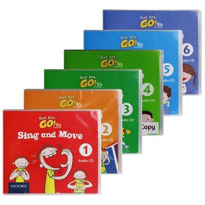 收納用品 華研原版 牛津幼兒英語歌曲音頻CD 1-6 英文原版 Get Set Go Sing And Move Audio CD@16257
