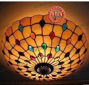 {美學}蒂凡尼歐式復古客廳吸頂燈臥室吊燈餐廳燈MX-2084