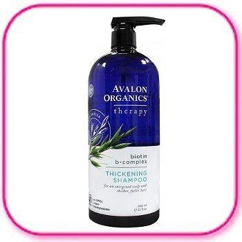 ☆美麗星☆AVALON  湛藍 生物素B群洗髮精946ml(32oz家庭號) 新包裝透明瓶
