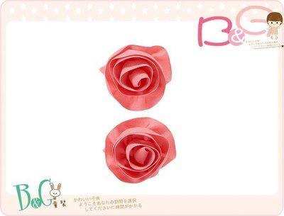 【B& G童裝】正品美國進口GYMBOREE Rosette Clips 立體玫瑰織帶兒童安全髮夾