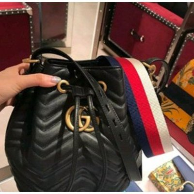 Gucci 水桶包 Marmont Quilted Leather Bucket 水桶包 476674
