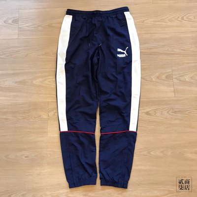 (D.S) Puma Retro Cuffed SweatPants 男款 藍色 風褲 長褲 運動褲 57637706
