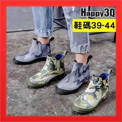 低幫防水雨鞋44雨靴41短筒防水鞋40迷彩風雨鞋子39-灰/綠39-44【AAA4681】