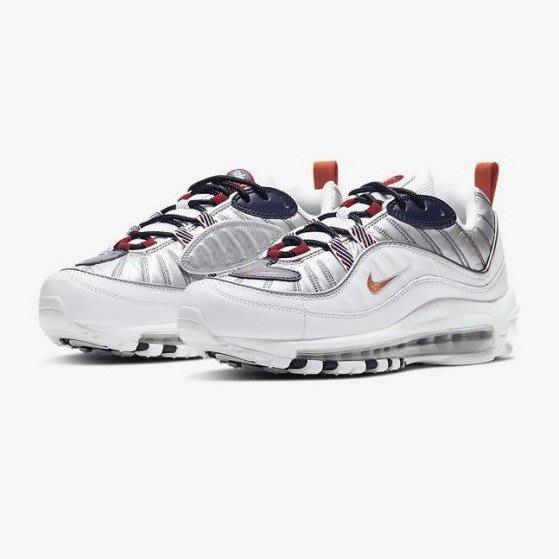 限時特價 南 2020 7月 Nike Air Max 98 PRM 復古休閒鞋 氣墊慢跑鞋 白銀 CQ3990-100