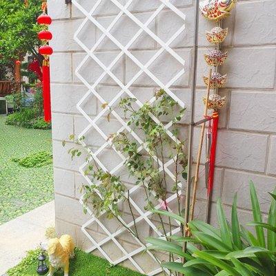 置喜白色小柵欄花盆塑料田花園圍欄木柵欄籬笆圍欄護欄網格爬藤架小豬佩奇