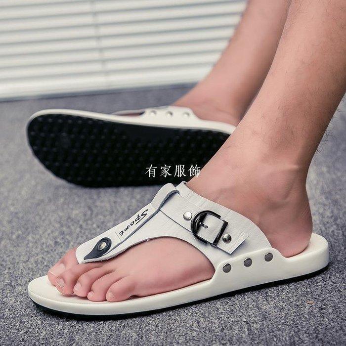 有家服飾夏季海邊度假沙灘人字中國風涼拖鞋夏天社會人外穿網紅百搭夾板托