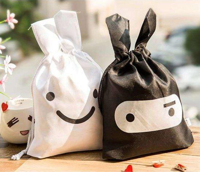 ❤❤心生活創意禮品館❤❤不挑款~福利品小瑕疵~不影響正常使用~忍者 兔子 隨身環保收納袋 旅行小物 日韓文具