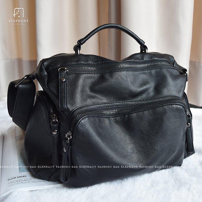 【艾樂芬】獨家訂製 防水 水洗皮革 仿羊皮 超輕量 柔軟手提包 肩背包 斜背包 相機包 雙主袋 休閒包 大容量