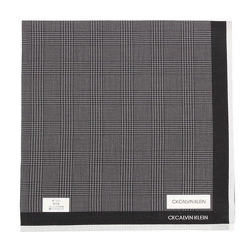 【姐只賣真貨】Calvin Klein CK千鳥格紋純綿帕巾手帕(黑藍/黑灰/藍紅)48*48CM 父親節88節禮物