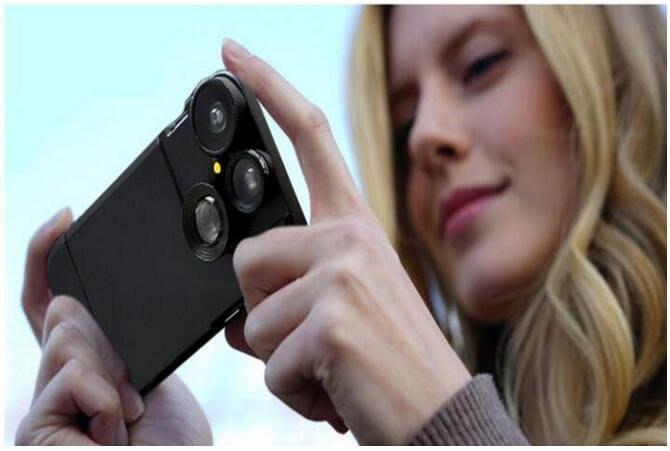 Iphone6/6s plus 廣角自拍創意鏡頭手機殼