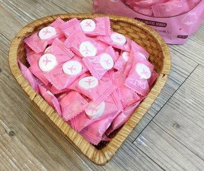 現貨~50顆裝 糖果包裝 壓縮毛巾 一次性毛巾 糖果包裝 拋棄式 旅行 便攜 洗臉巾 擦臉巾
