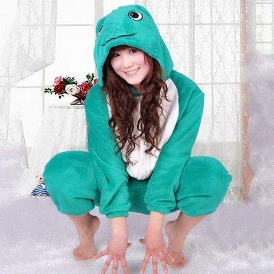 5Cgo【鴿樓】會員有優惠 9928955343 珊瑚絨動物卡通連體睡衣 可愛家居服 青蛙