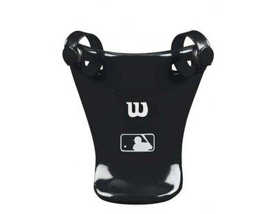 "美國進口 WILSON MLB 4"" UMPIRE THROAT GUARD 主審裁判四吋面罩護喉黑白款"