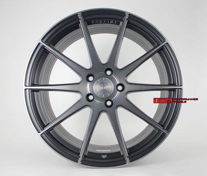 VERTINI正品RF1.3 19吋旋壓輕量化 5孔 全車系 8.5J + 9.5J 黑底黑車透~超輕量~配胎套餐大折扣