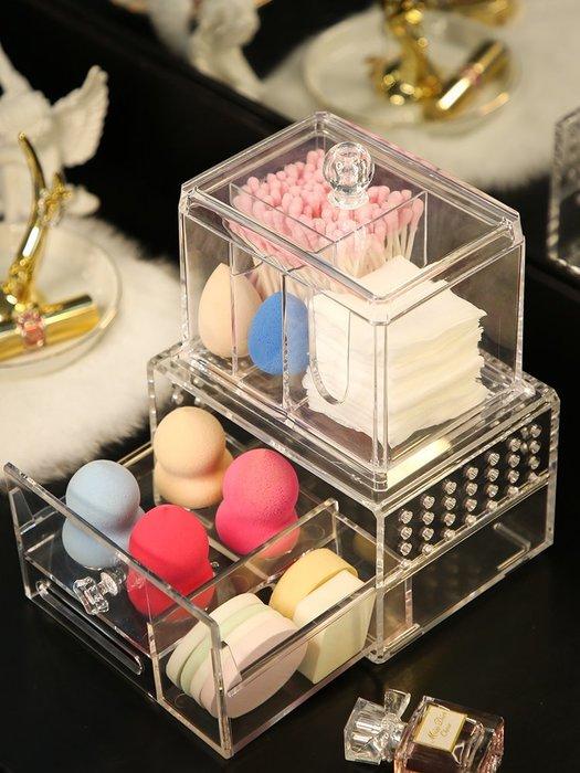亞加麗加美妝蛋水滴化妝海綿粉撲收納架子葫蘆臉撲收納盒透氣整理-青木居家
