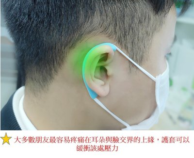 口罩減壓神器 可循環使用口罩繩耳套  口罩耳掛耳套 口罩繩護套