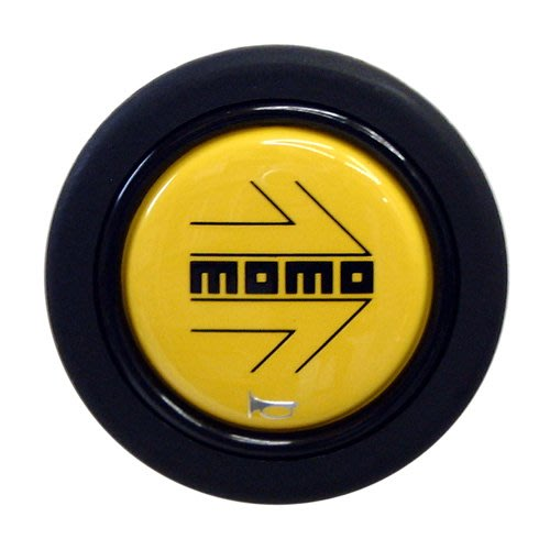 【JP.com】日本帶回 MOMO 正品 HB-03 方向盤喇叭蓋 黃色箭頭