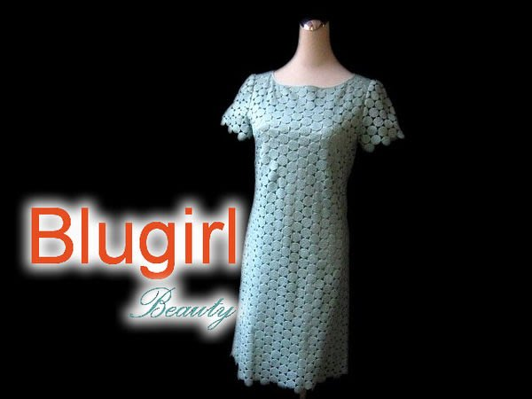 *Beauty*Blugirl綠色蕾絲洋裝 Made in Italy WE14