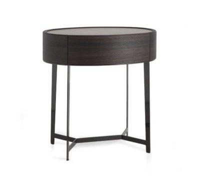 [米蘭諾家具]複刻poliform 床頭櫃 設計師款邊櫃 楕圓床頭櫃 鐵件 超有質感的 台灣製造