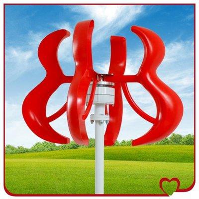 小型發電機家用紅葫蘆風力發電機100w200w600w小型家用風力發電機直立式含控制器