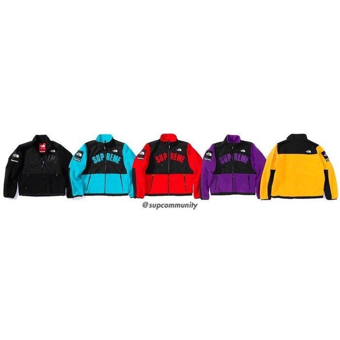【美國鞋校】預購 Supreme SS19 TNF Arc Logo Denali Fleece 夾克 五色
