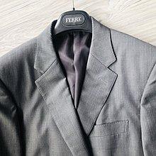 歐碼50 Super130'【GIEVES & HAWKES】深鐵灰單排扣西裝外套