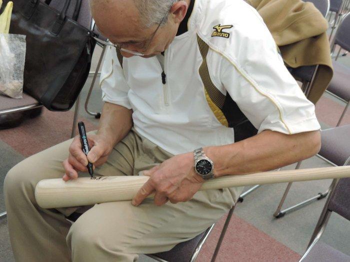 貳拾肆棒球-久保田五十一親筆簽名 Mizuno pro鈴木一朗ICHIRO式樣北海道青木球棒