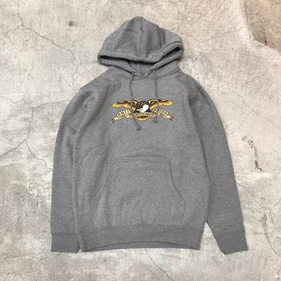 車庫服飾 現貨 ANTI HERO EAGLE HOODED PULLOVER 彩色老鷹 帽T 灰色