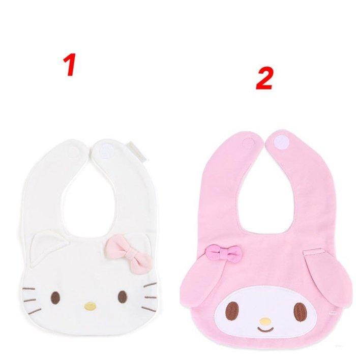 Hello Kitty 丶美樂葦大臉造型嬰兒魔鬼氈棉質圍兜 口水圍兜.口水巾