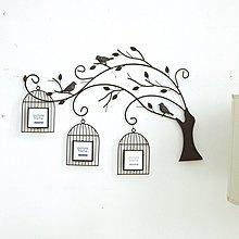 〖洋碼頭〗歐式鳥籠樹照片牆 創意客廳掛牆相框組合手工鐵藝牆飾壁飾相片牆 ybj117