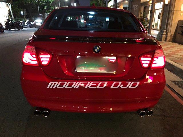 DJD19100403 寶馬 BMW E90 05 06 07 08 2005 紅黑 全紅 光柱 光條 LED 尾燈 後