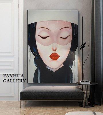 C - R - A - Z - Y - T - O - W - N 女性人物藝術版畫巨幅玄關裝飾畫時尚高檔大尺寸壁畫掛畫寫實人物油畫設計師款裝飾畫住宅客廳人物畫