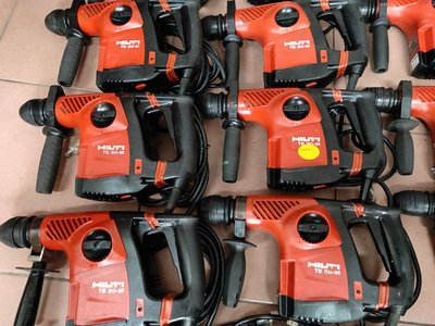 (中古.二手) HILTI 喜得釘 喜利得 TE30C TE30M TE7 TE7C 免出力電動鎚鑽 各式電動充電工具