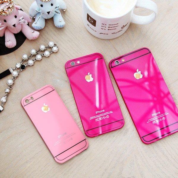 ♥心樂格格♥♫[徐琳同款 iphone 6 iphone6plus 桃紅/玫瑰紅 金屬邊框保護殼 手機套 ]全新現貨限量