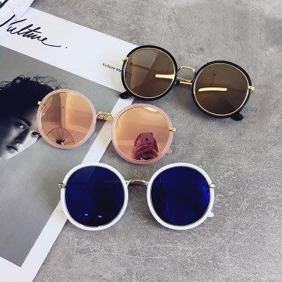 太陽眼鏡新款韓版大框圓形墨鏡復古潮人女士太陽眼鏡圓臉顯臉小眼鏡【FOLLOW ME】