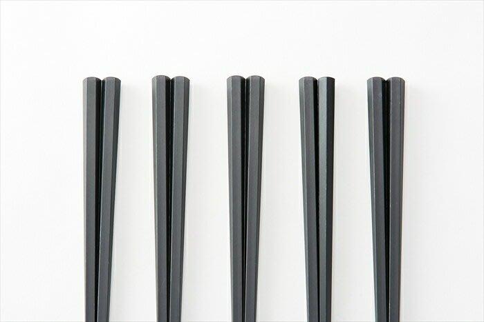 【JP 14】ASAHIKOYO 耐熱六角形筷子 日本製 餐廳 廚房 (黑色)