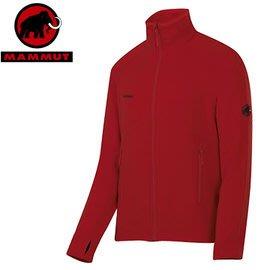 丹大戶外【MAMMUT】瑞士長毛象 男 刷毛保暖外套 1010-17860-3225 紅色
