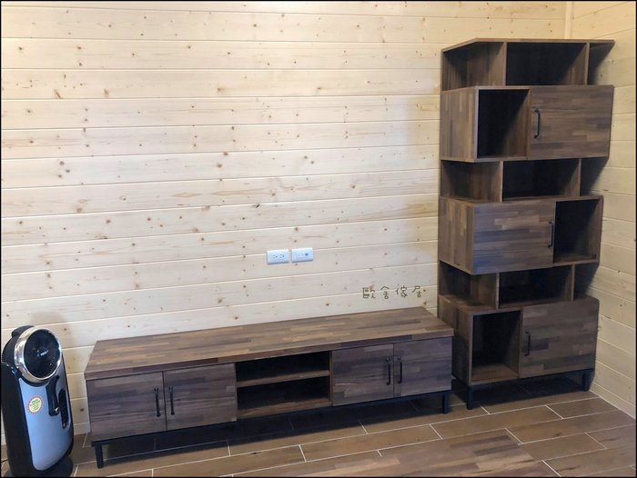 現代簡約風鐵腳TV櫃 木製六尺電視櫃 旁邊高低櫃大茶几另計高書櫃書櫥收納櫃展示櫃電器架隔間櫃置物櫃餐櫥櫃促銷【歐舍傢居】