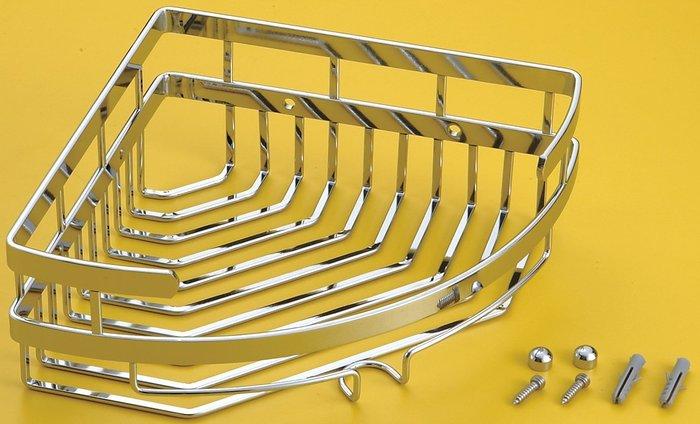 [勞倫斯衛浴生活商場] 不鏽鋼 雙扁鐵轉角架 置物架 L2674  收納 *淋浴拉門、浴櫃*